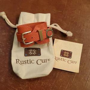 Rustic Cuff Leather bracelet